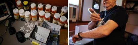 Ron said he takes 18 medications, including insulin, four times a day for his conditions.