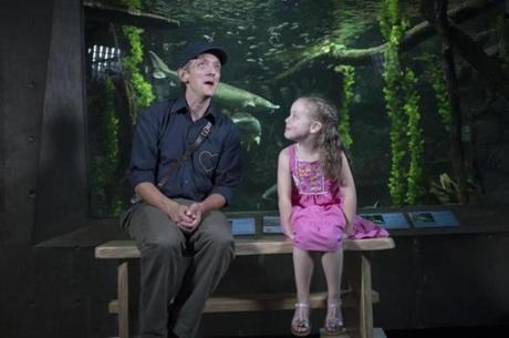 "Chris Dorman interviewed Charlotte ""Charlie"" McBride, 6, of Shelburne, Vt., for an episode of ""Mister Chris."""
