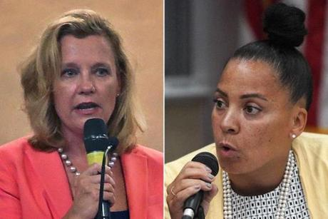 Middlesex DA candidate Donna Patalano (left) and Suffolk DA candidate Rachael Rollins.