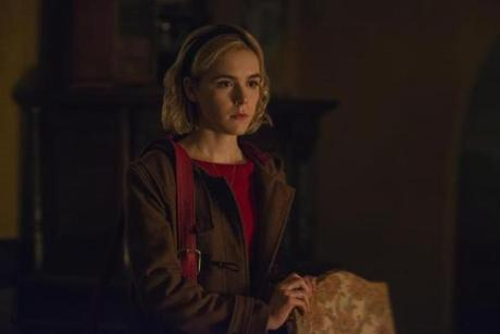 CHILLING ADVENTURES OF SABRINA 23fallTV ÒChilling Adventures of SabrinaÓ (Netflix). CHILLING ADVENTURES OF SABRINA SEASON Season 1 EPISODE 2 PHOTO CREDIT Diyah Pera/Netflix PICTURED Kiernan Shipka COPYRIGHT