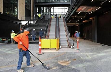 BOSTON, MA - 11/08/2018:Entrance way getting ready for opening. Delaware North to announce significant expansion of the TD Garden. (David L Ryan/Globe Staff ) SECTION: BUSINESS TOPIC 09garden