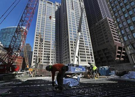 BOSTON, MA - 3/20/2019: Winthrop Square is an upcoming skyscraper being built in the downtown area. (David L Ryan/Globe Staff ) SECTION: BUSINESS TOPIC xxwinthrop
