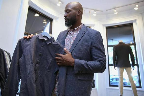 Men's fashion expert Jeff Lahens, at Frank & Oak on Newbury Street, says it's important for men to know what they are looking for.