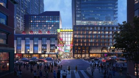 """The Hub on Causeway"" will include a retail complex with a supermarket and movie theaters on the site of the old Boston Garden on Causeway Street at North Station."