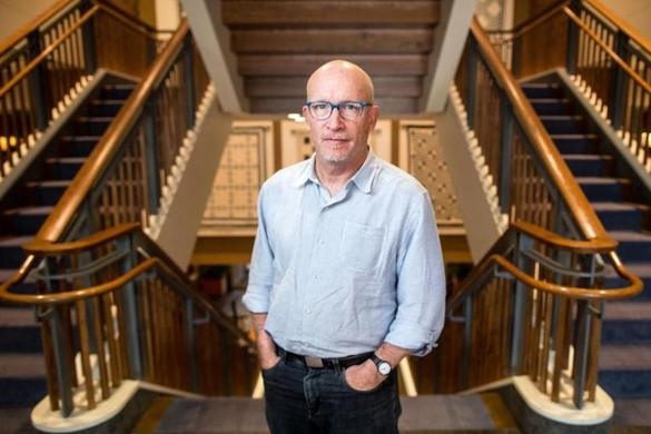 Director Alex Gibney at The Charles Hotel in Cambridge.