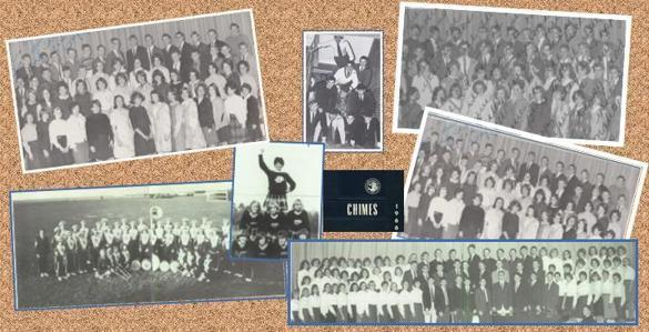 Assorted photos of the Class of 1966 during their time at Scituate High School.