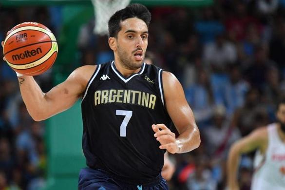 Argentina's point guard Facundo Campazzo runs during a Men's round Group B basketball match between Spain and Argentina at the Carioca Arena 1 in Rio de Janeiro on August 15, 2016 during the Rio 2016 Olympic Games. / AFP PHOTO / Andrej ISAKOVICANDREJ ISAKOVIC/AFP/Getty Images