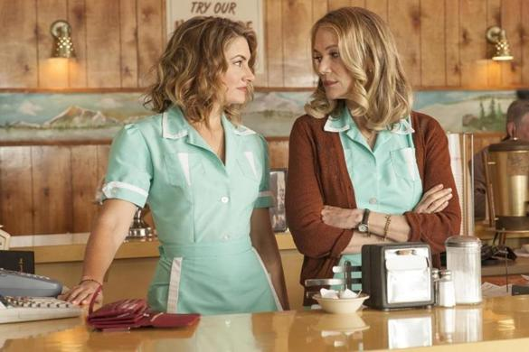 "Madchen Amick (left) and Peggy Lipton in ""Twin Peaks."""