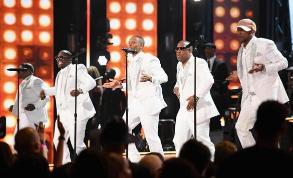 New Edition performed at 2017 BET Awards at Microsoft Theater.