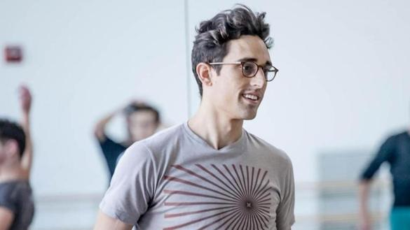 "Justin Peck (with Boston Ballet dancers) is the choreographer of ""In Creases,"" the centerpiece of Boston Ballet's ""Parts in Suite"" program."