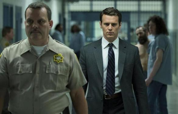 This image released by Netflix shows Jonathan Groff in a scene from the 10-episode series,