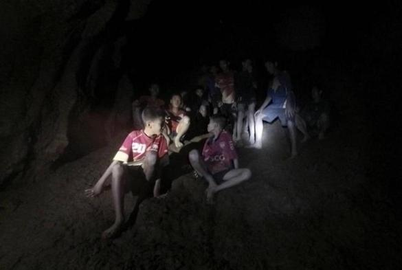 The missing 13 young members of a youth soccer team including their coach were found inside the cave complex at Tham Luang cave in Khun Nam Nang Non Forest Park, Chiang Rai province, Thailand.