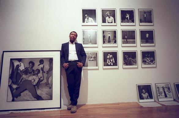 "Okwui Enwezor prepared his show ""The Short Century"" in New York in 2002."