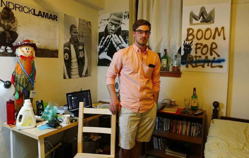 Alston Potts, a third-year engineering student at Northeastern, lives in a basement apartment across the hall from the one that was condemned last September at 109 St. Stephen St. He said he will never live in a building owned by Faisal's flagship company, Alpha Management Corp., again.