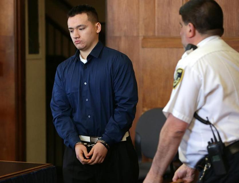 Marco enters a courtroom on May 16, 2013, to plead guilty to killing Jaime.