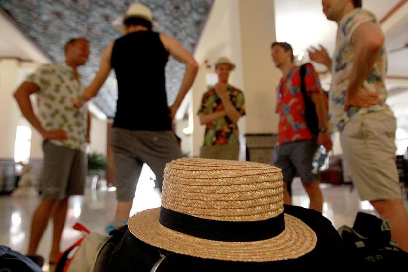Havana, Cuba, 06/015/15, Toursist gather in the lobby of the Seville Hotel. Suzanne Kreiter/The Boston Globe