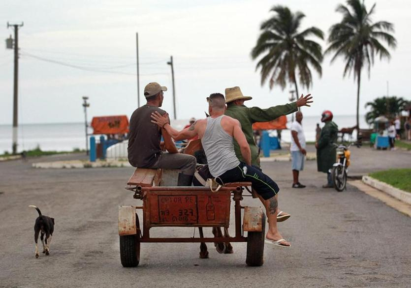 Porto Esperanza, , Cuba, 06/015/15, A party atmosphere on a Saturday afternoon in this town which has no internet. Suzanne Kreiter/The Boston Globe