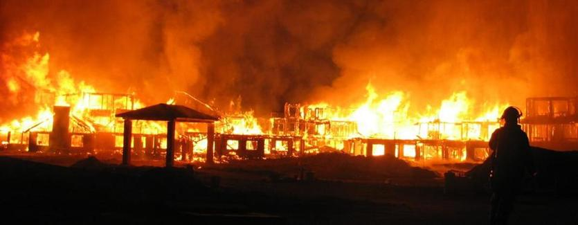 The Bluebird Estates fire in East Longmeadow in September 2007.