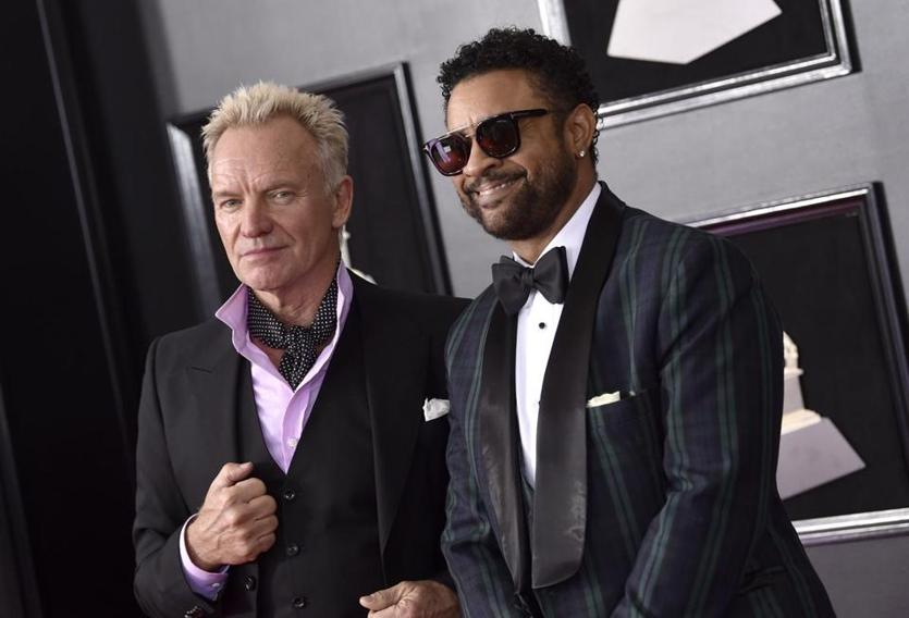 Sting, left, and Shaggy arrive at the 60th annual Grammy Awards at Madison Square Garden on Sunday, Jan. 28, 2018, in New York. (Photo by Evan Agostini/Invision/AP)