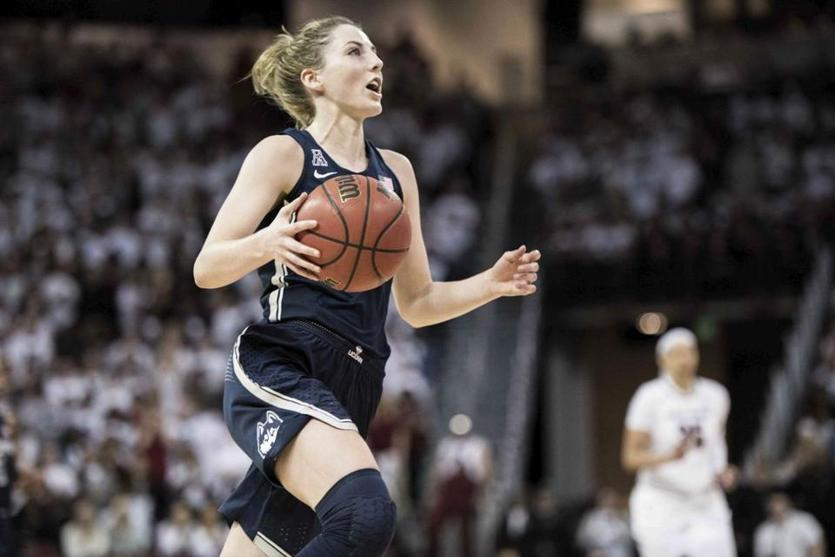 UConn's Katie Lou Samuelson picked up her second straight American Athletic Conference player of the year award.