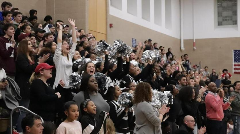 The stands were packed at Cambridge Rindge and Latin School on Saturday night as the two-time defending state champs played their last home game of the season. The Falcons defeated Methuen, 72-70, in overtime in a Division 1 North quarterfinal.