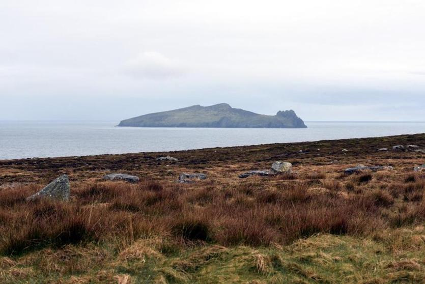 The small island, seen from the Slea Head loop, that resembles a sleeping giant.