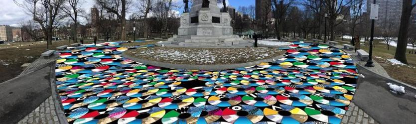 A rendering of the instillation that will be created on Boston Common by artist Julia Vogl.