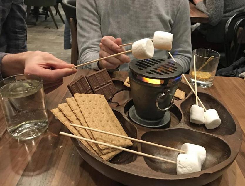 Hot sara is back the boston globe tableside smores at campfire adirondack bar grill in hotel saranac voltagebd Image collections