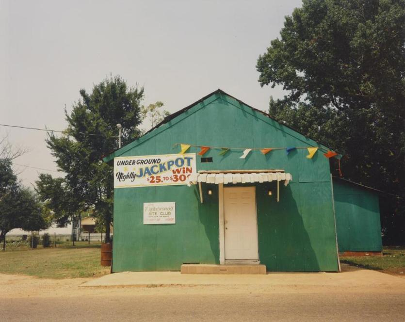 "William Christenberry's ""The Underground Nite Club, Greensboro, Alabama."""