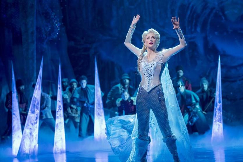 "Caissie Levy as Elsa in ""Frozen"" at St. James Theatre."