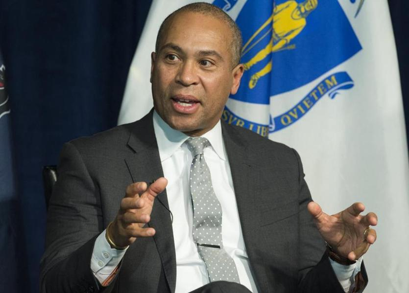 Former Massachusetts Governor Deval Patrick speaks on a panel on leadership during times of crisis at the Newseum in Washington, DC, February 22, 2016. / AFP / SAUL LOEBSAUL LOEB/AFP/Getty Images