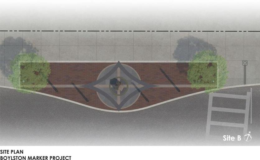 This is what the Boston Marathon bombing memorial will look like...