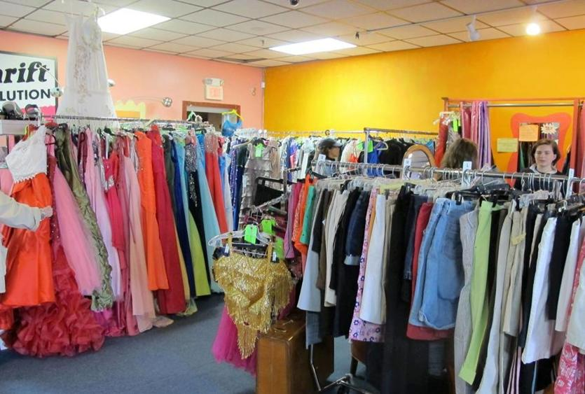 Wicked Thrift is known for its large selection of prom gowns.