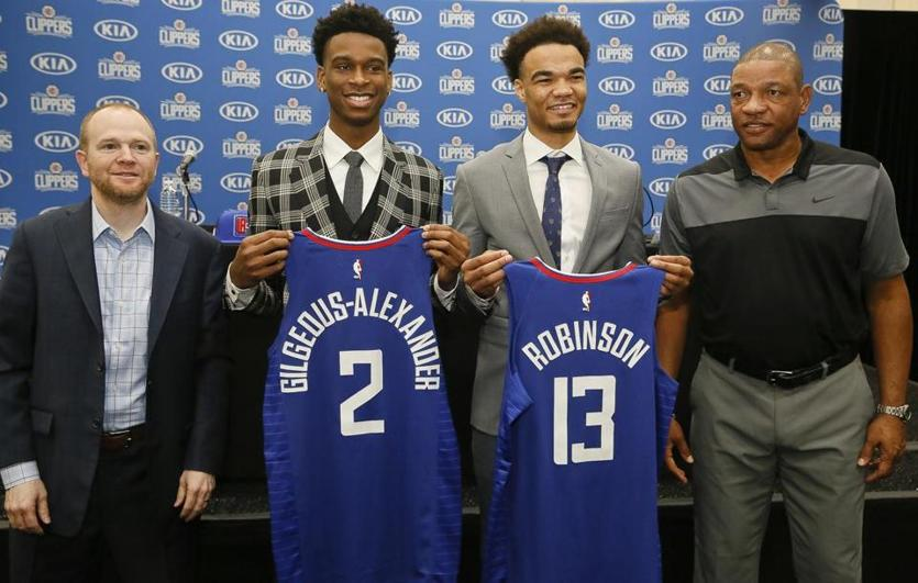 Shai Gilgeous-Alexander and Jerome Robinson are part of the youth movement for the Clippers.