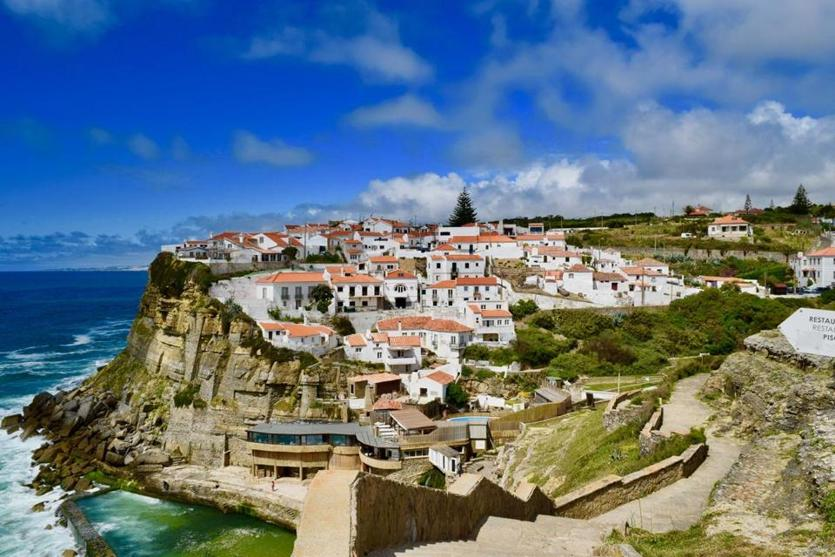 A look at Azenhas do Mar, a seaside town in the municipality of Sintra.