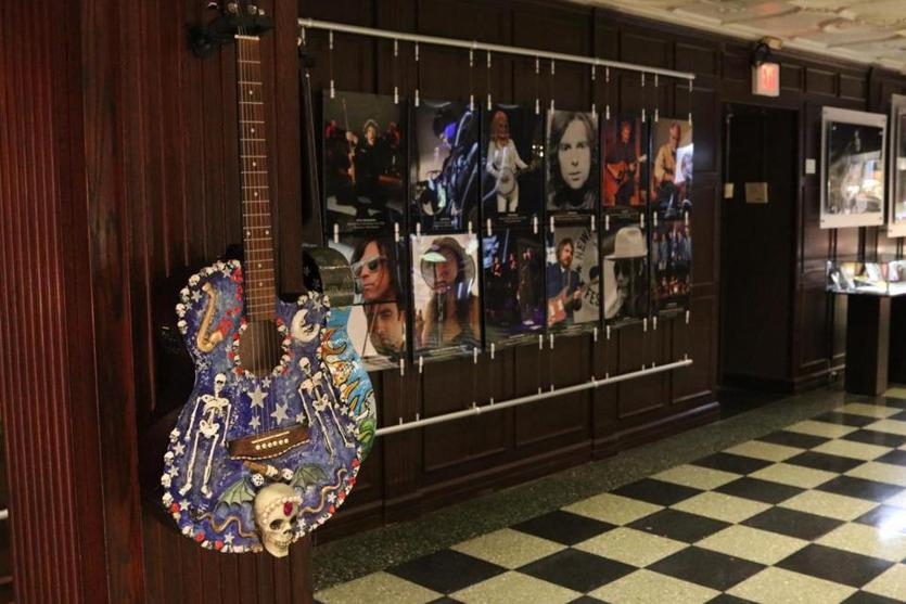 Memorabilia of folk, Americana, and roots music from the David Bieber Archives at The Music Hall in the Boch Center's Wang Theatre.