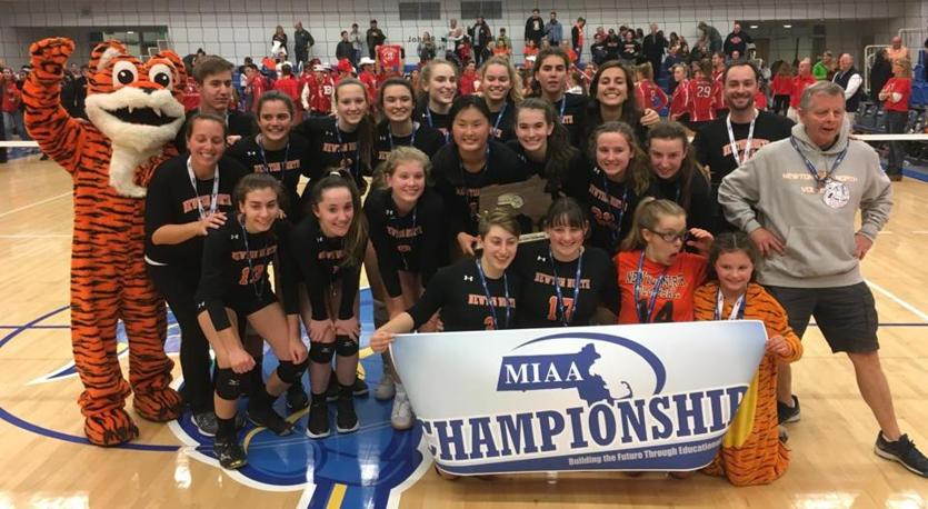 Newton North takes down Barnstable, repeats as D1 girls' volleyball champs - The Boston Globe