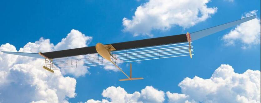 An artist's impression of a glider flying outside someday.