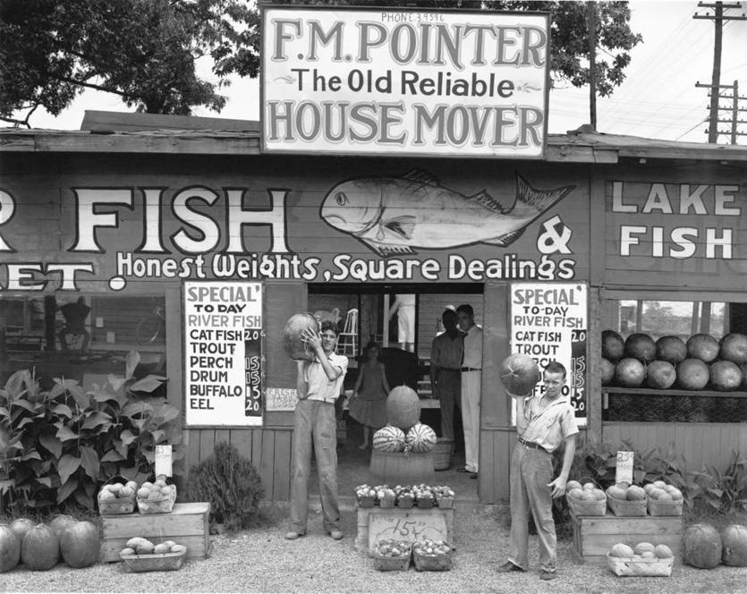 """Roadside Stand near Birmingham, Alabama,"" 1936, by Walker Evans"