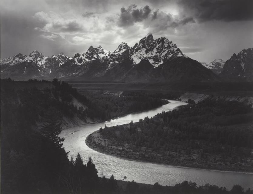 """The Tetons and Snake River, Grand Teton National Park, Wyoming"" by Ansel Adams"