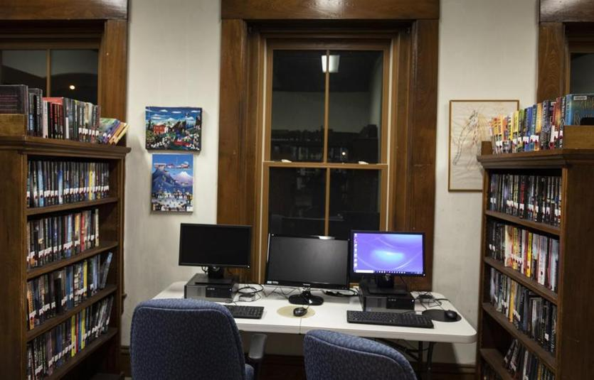 The Tyler Memorial Library in Charlemont has web access workstations available for the public.