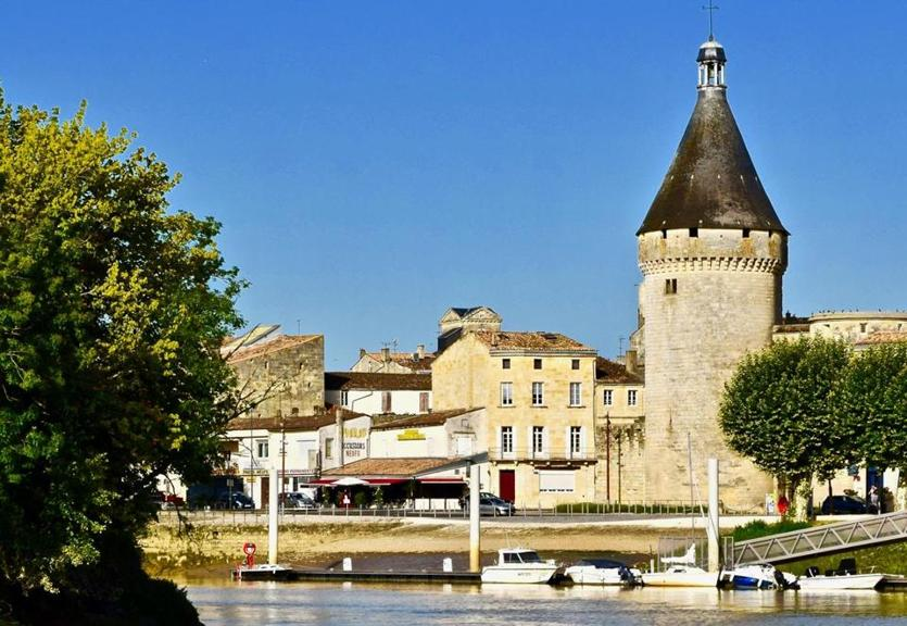 A view of the town of Blaye, France, from the Gironde Estuary.