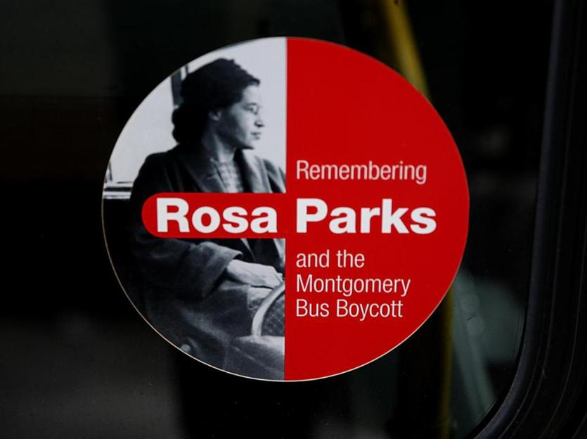 02/02/2019 Boston MA. -MBTA buses have stickers on them honoring Rosa Parks. Jonathan Wiggs/Globe StaffReporter:Topic: