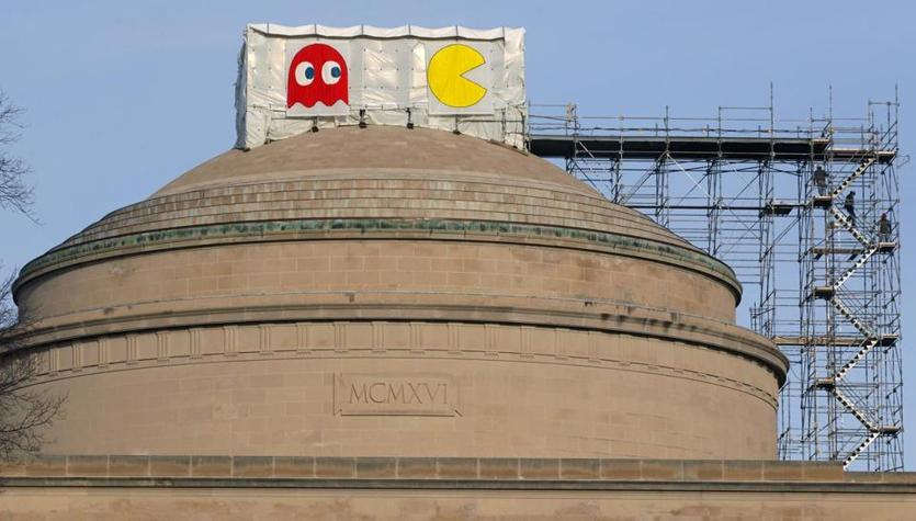 Pac-man and a ghost appeared atop the Great Dome in January 2013.