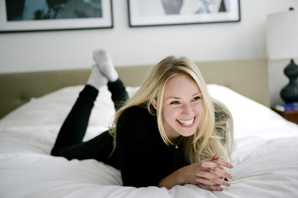 "for Arts - 11bookssophie - Former New York City Ballet Dancer Sophie Flack just wrote a YA book called ""Bunheads."" She is photographed at her home in New York City on September 30, 2011. (Jennifer Taylor for The Boston Globe)"
