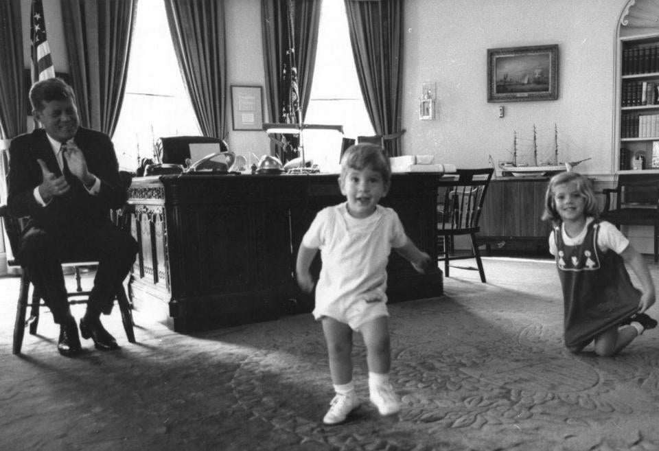 john f kennedy oval office. President Kennedy Plays With His Chidren As They Visit Him In The Oval Office. Photograph John F Office R