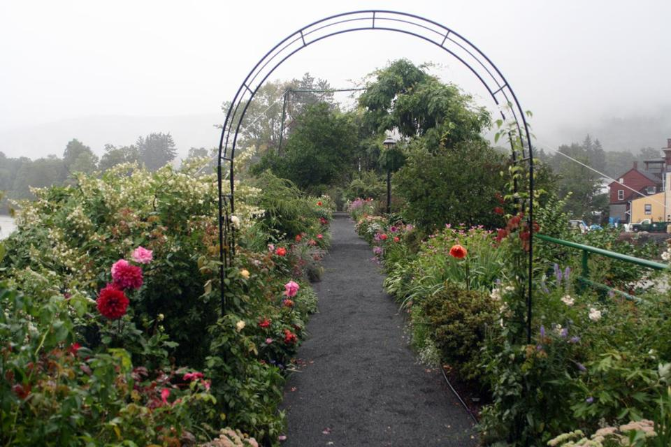 The Bridge of Flowers over the Deerfield River in Shelburne Falls.
