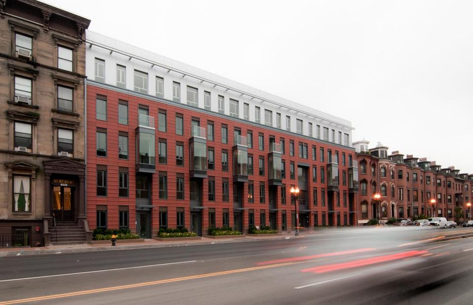 modern brick apartment building.  In harmony with history The Boston Globe