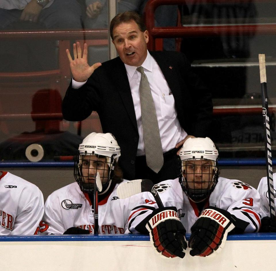 Northeastern's Jim Madigan is one of the newer coaches in Hockey East who is keeping pace with the old guard.