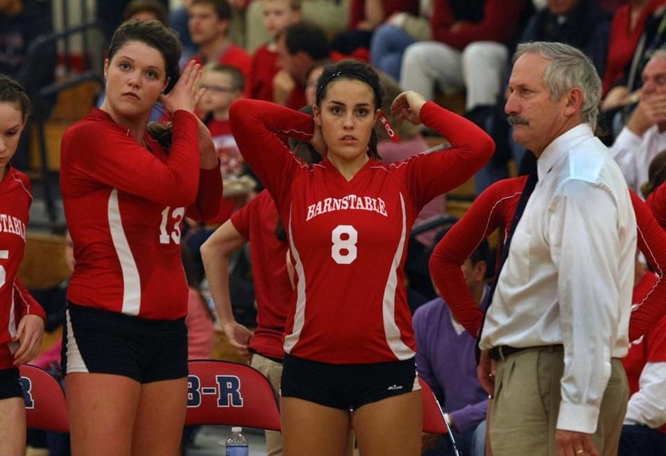 Kaylee Deluga, left, helped lead Barnstable to a championship en route to Player of the Year honors.